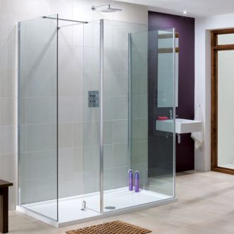 Lakes Bathrooms Coastline Collection Rhodes Walk-In Shower 750mm