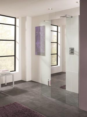Lakes Mirror Cannes Shower Screen 900mm x 2000mm