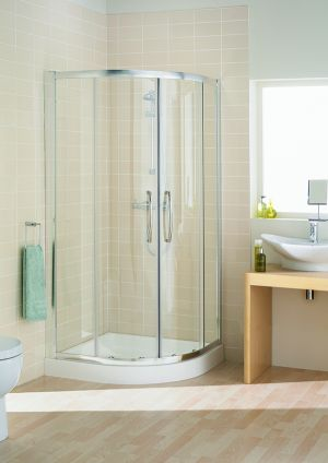 Lakes Single Rail Quad 1000mm Shower Enclosure