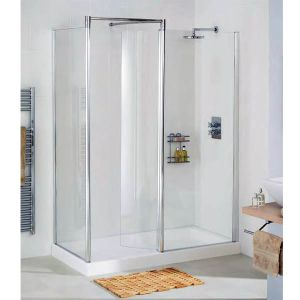 Shower Walk In Enclosure with Side Panel by  Lakes Bathrooms