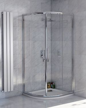 Lanza 8 - 800 x 800 Double Door Quadrant Shower Enclosure