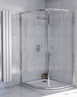 Lanza 8 - 1000 x 800 Offset Double Door Quadrant Shower Enclosure