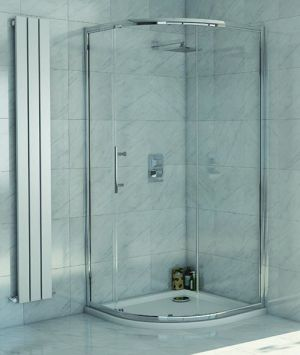 Lanza 8 - 1200mm x 900mm Offset Single Door Quadrant Shower Enclosure