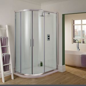 Manhattan 6 - 1200mm x 900mm Offset Quadrant Duo Shower Enclosure