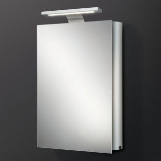 Electron mirrored bathroom cabinet with lights aluminium electron mirrored bathroom cabinet with lights mozeypictures Image collections
