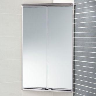 Saeta Corner Cabinet   Bathroom Mirrored Cabinets