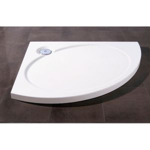 Coram 950mm Crescent White Slimline Tray