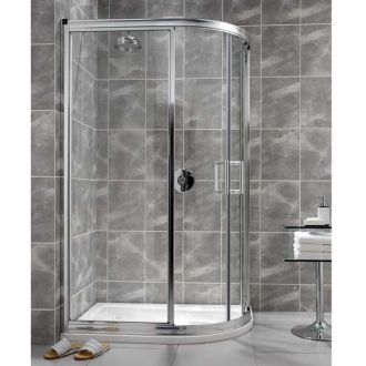Ellbee Profile Plus Offset Shower Quadrant Enclosure 900mm x 760mm