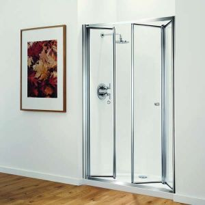 1200mm Coram Optima Tri Fold Shower Door
