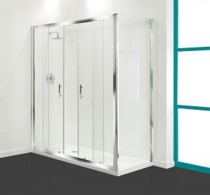 1500mm Coram Optima Shower Double Sliding Door