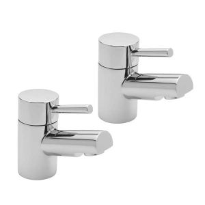 Piazza Bathroom Basin Taps (Pair)