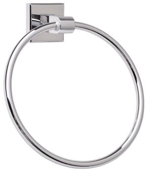 Mayfair Plaza Chrome Finish Brass Towel Ring PLA404