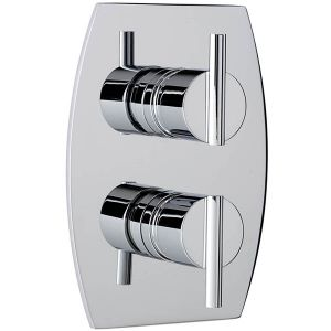 Pure Concealed Thermostatic Shower Valve with 2 way Diverter