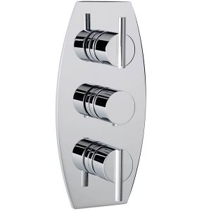 Pure Concealed Thermostatic Shower Valve with 3 way Diverter