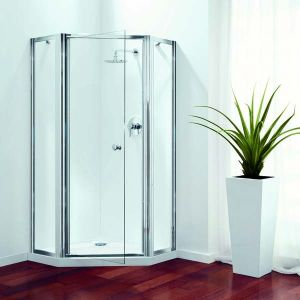 900mm Coram Premier Pentagon Shower Enclosure Coram