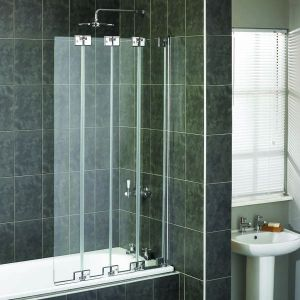 High Quality Aqualux Pura 4 Fold Bath Shower Screen