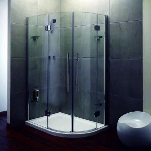 900mm x 1200mm Aqualux Pura Double Door Off-set Shower Quadrant Enclosure