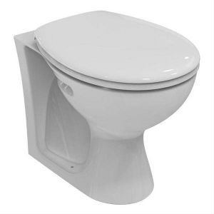 Armitage Shanks E897401/S3040401 White Sandringham Back to Wall WC Pan No Logo with Horizontal Outlet