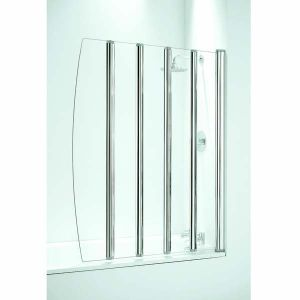 Coram Shower Screen Five Panel Folding Bath Screen