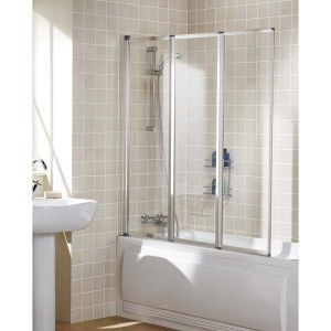 Lakes Bath Screen - Framed (Triple Panel)