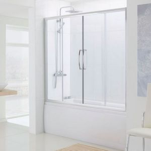 1600mm Lakes Over Bath Semi Frameless Double Slider Door