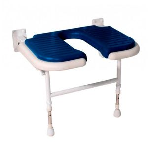 4000 Series Extra Wide Horseshoe Seat - Blue Padded