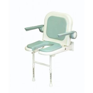 4000 Series Standard Horseshoe Seat with Back and Arms - Grey Padded