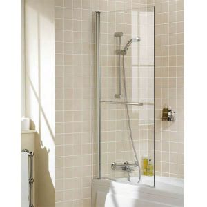 Lakes Bath Screen - Single Panel Square with Towel Rail